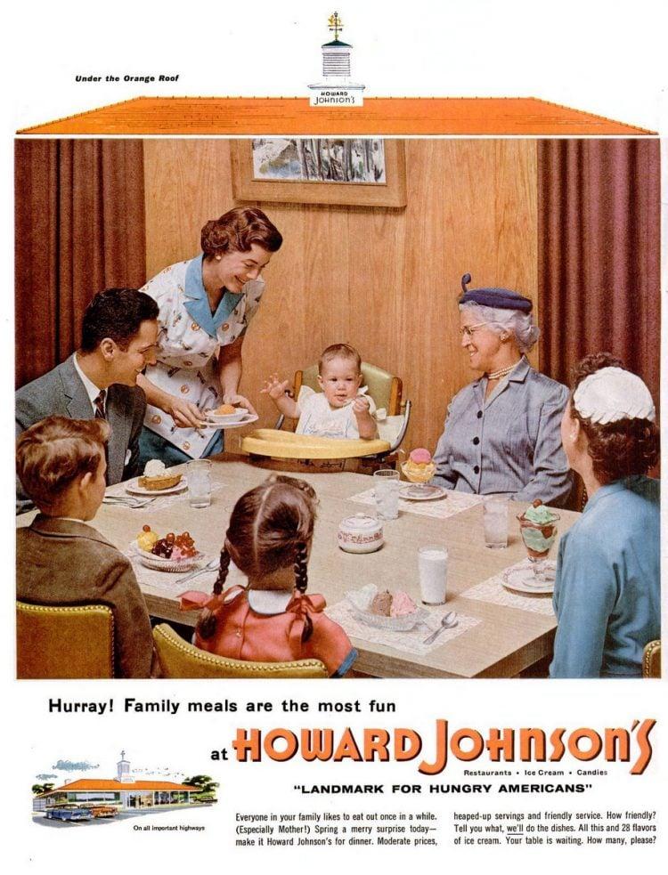 LIFE Jun 27, 1955 Howard Johnson's table