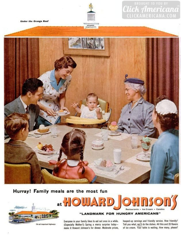 LIFE Jun 27, 1955 Howard Johnson's table