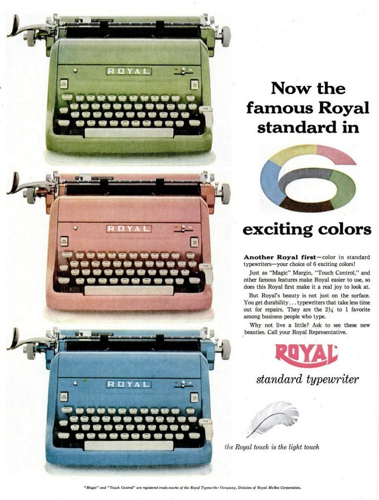LIFE Jun 6, 1955 typewriters royal