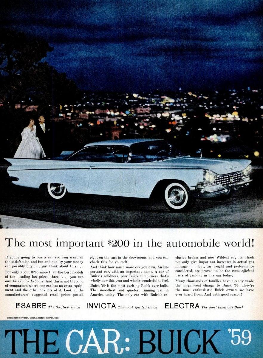 1959 Buick 2-door hardtop vintage ad