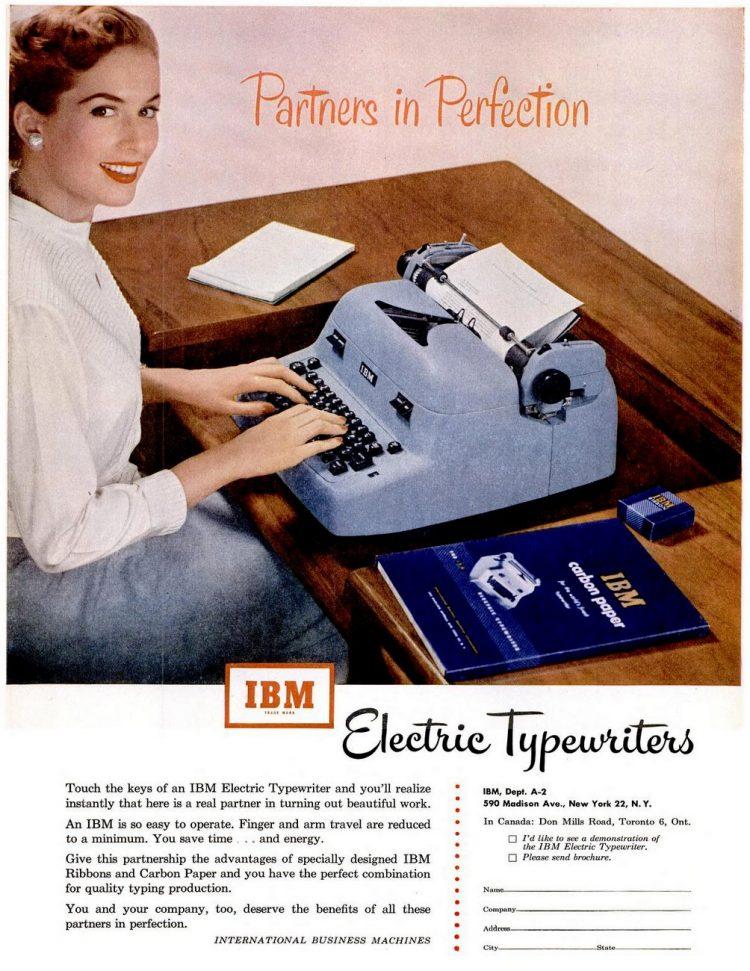 LIFE Jun 9, 1952 IBM typewriter
