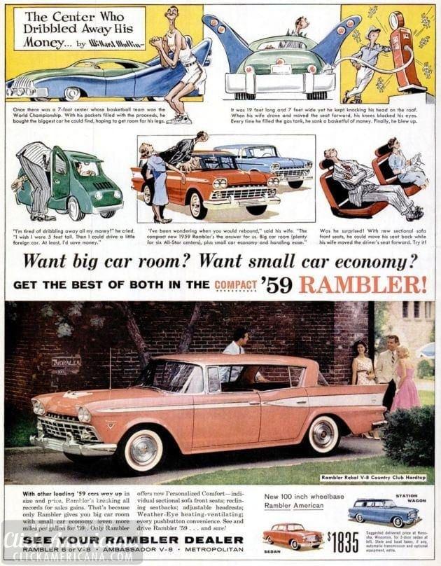 LIFE Mar 16, 1959 rambler car