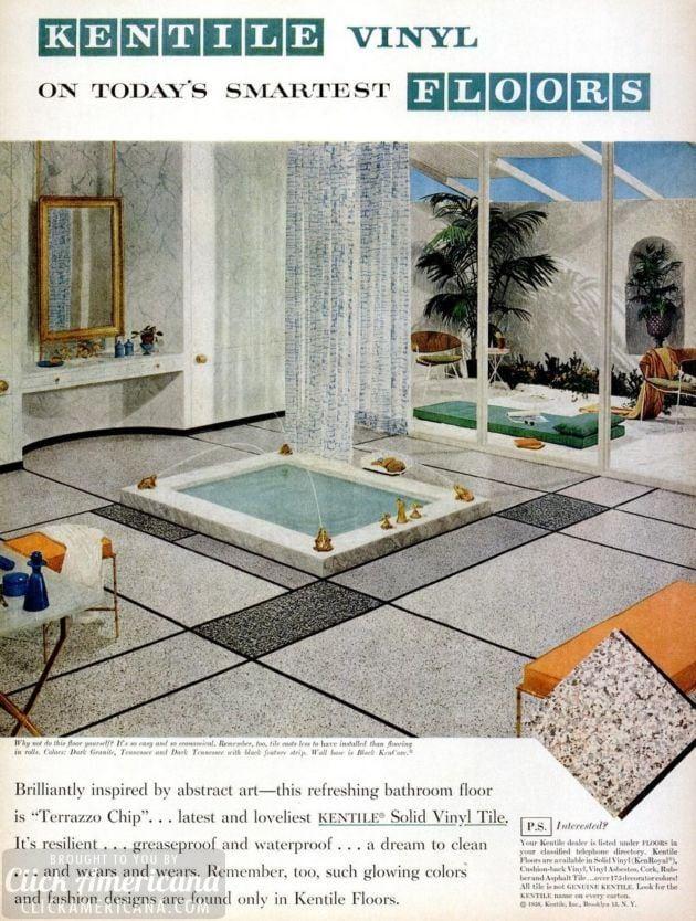Vintage home style: Vinyl floor tile (1950s)