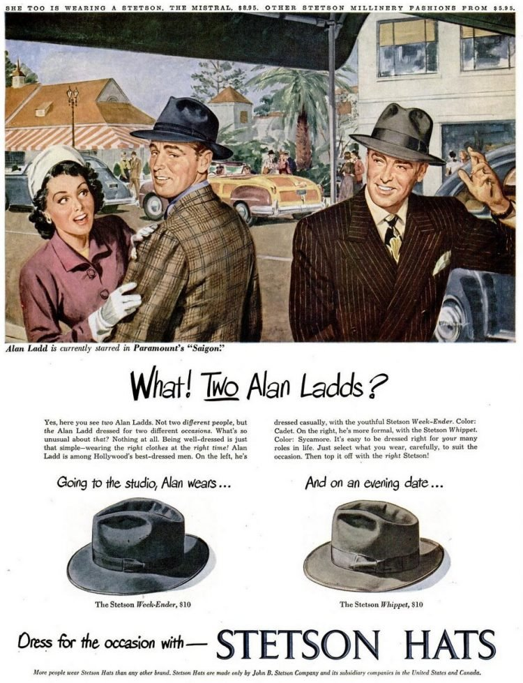 LIFE Mar 22, 1948 stetson hats