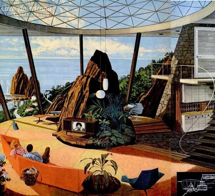 Super futuristic home from the 1960s