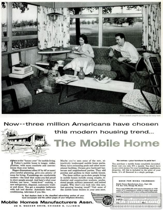 LIFE May 12, 1958 mobile home