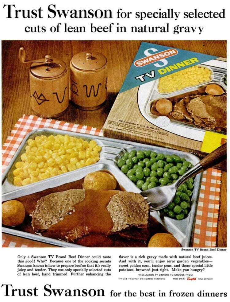 LIFE May 18, 1962 swanson tv dinner