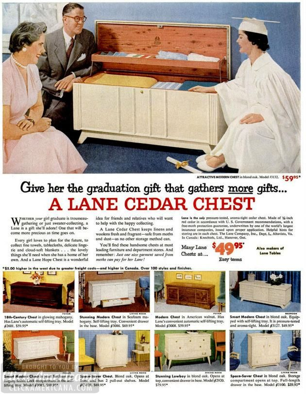 LIFE May 2, 1955 hope chest