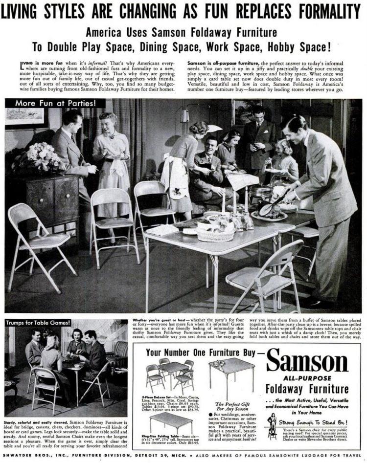 LIFE May 5, 1952 samson folding tables