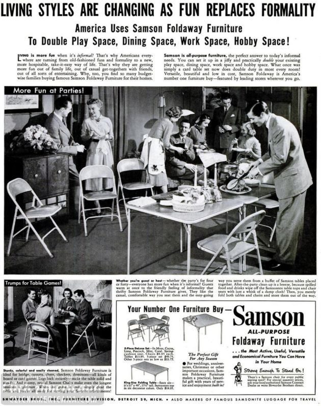 LIFE May 5, 1952 samson folding tables