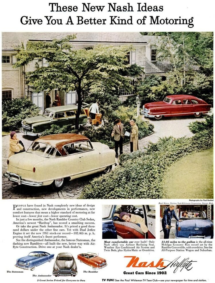 LIFE Nov 12, 1951 Nash Airflyte cars
