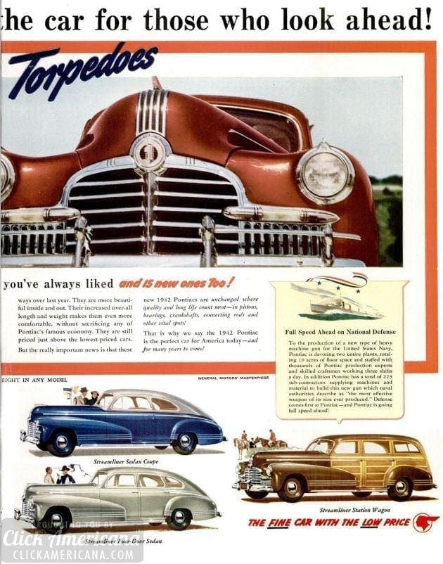 Pontiac's 10 new models for 1942 (1941)