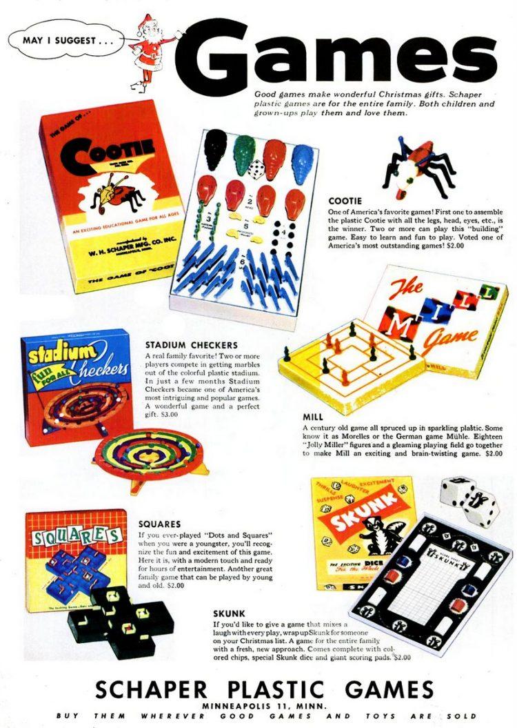 Nov 22, 1954 Games toys