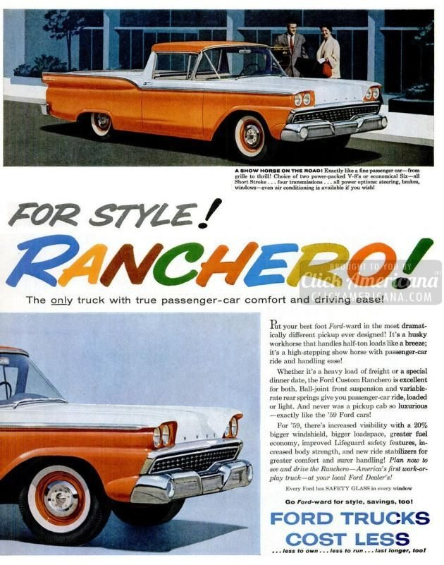 New '59 Ford Ranchero