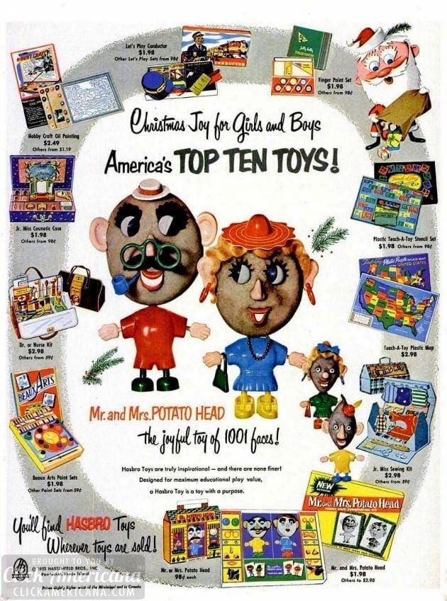 Mr Potato Head & other Hasbro Toys (1953)