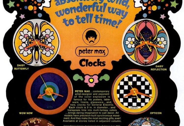 peter max clocks