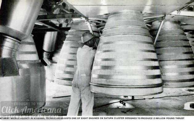 Lack of thrust & purpose keep US behind in space race (1959)