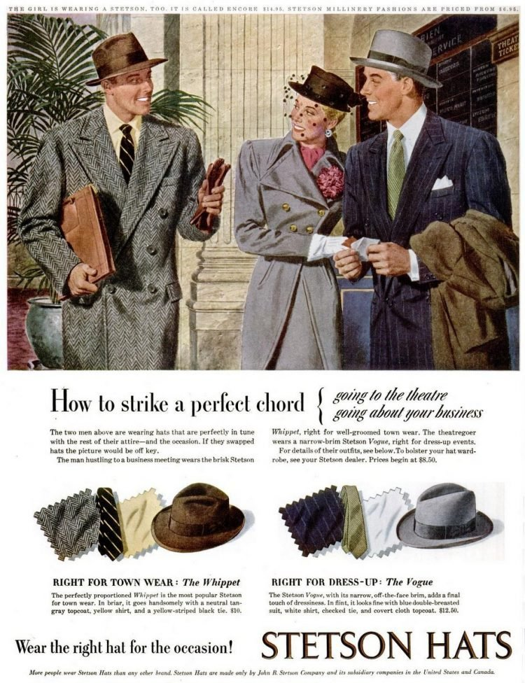 LIFE Oct 20, 1947 stetson hats