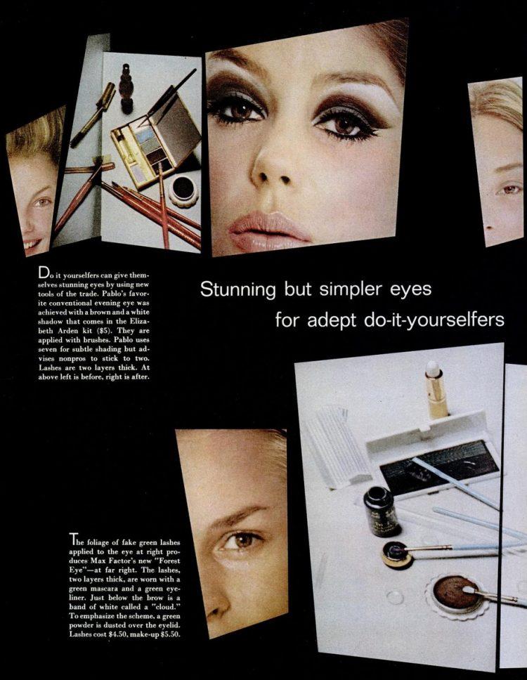 LIFE Oct 29, 1965 eye shadow art