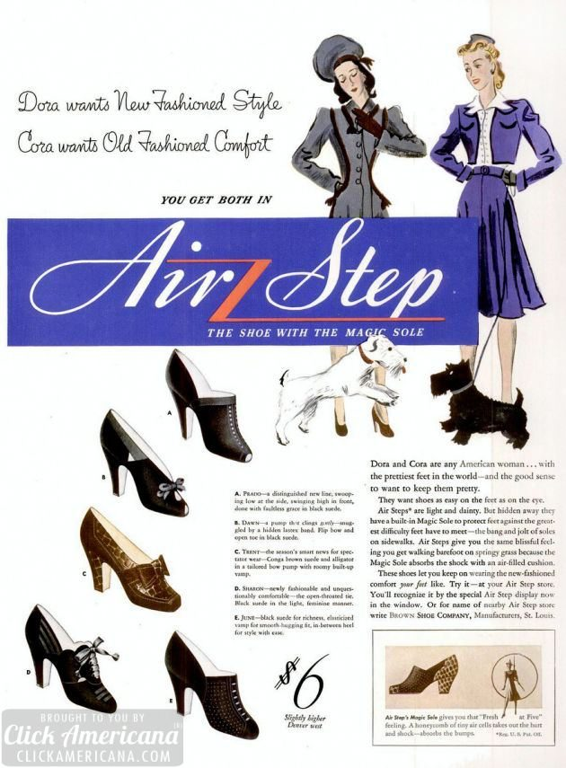 Oct 7, 1940 air step shoes for women