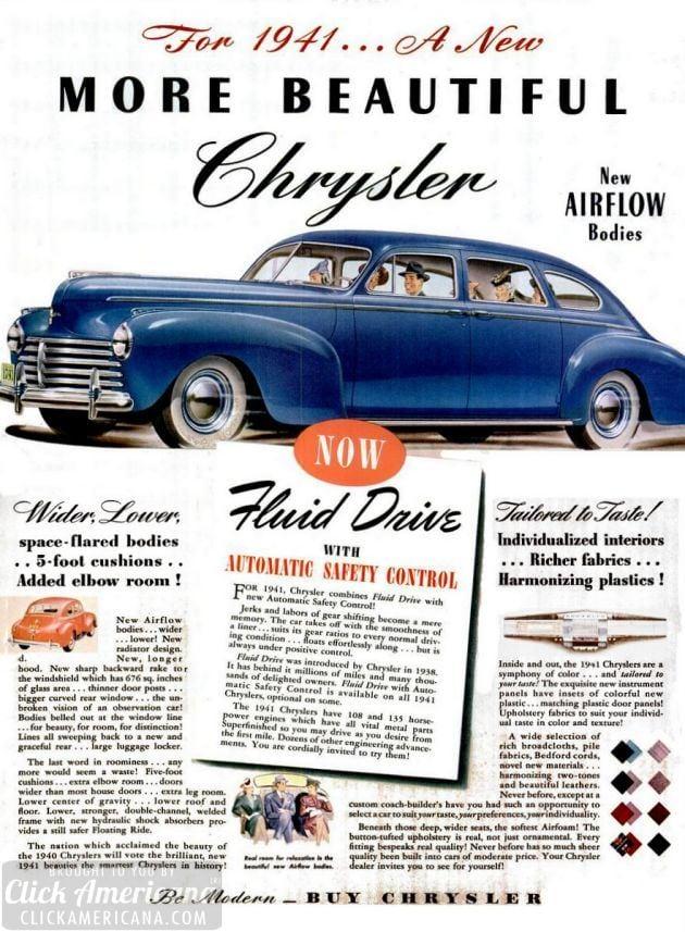 Be modern – buy Chrysler! (1940-1941)