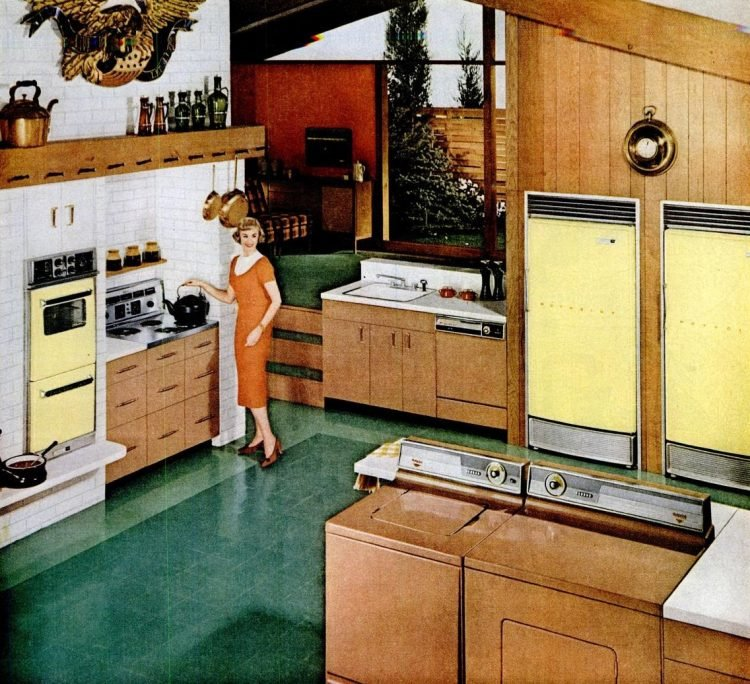 LIFE Sep 14, 1959 Hotpoint yellow kitchen