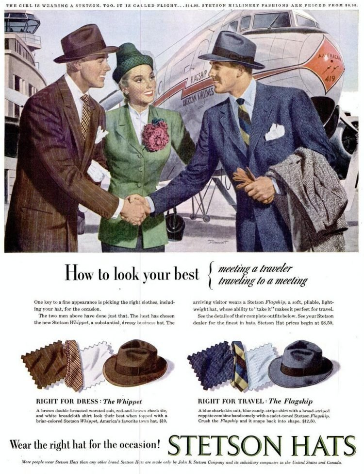 LIFE Sep 22, 1947 stetson hats