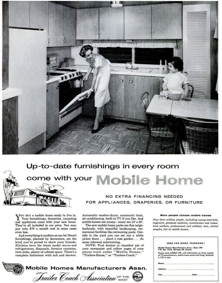 Mobile homes: The hot housing trend of the '50s and '60s ... on