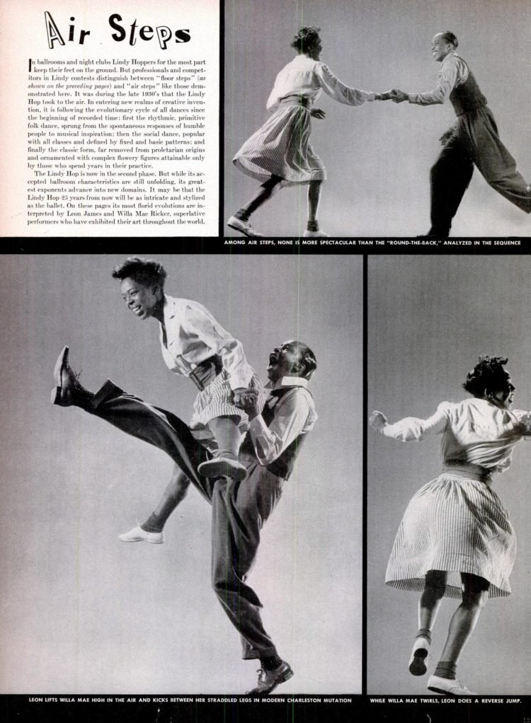 LIndy Hop dancing air steps from 1943