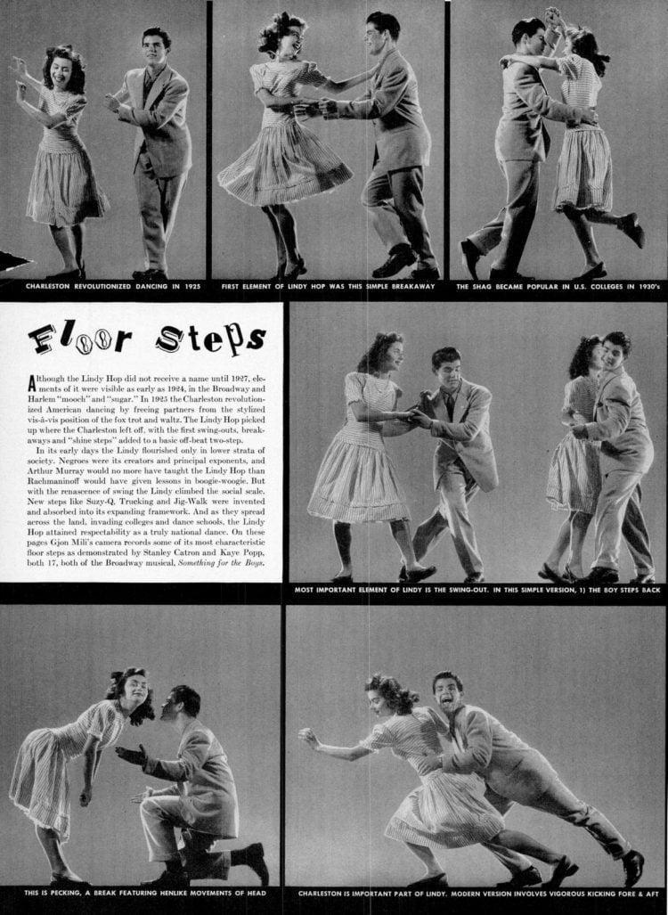 LIndy Hop dancing floor steps from 1943