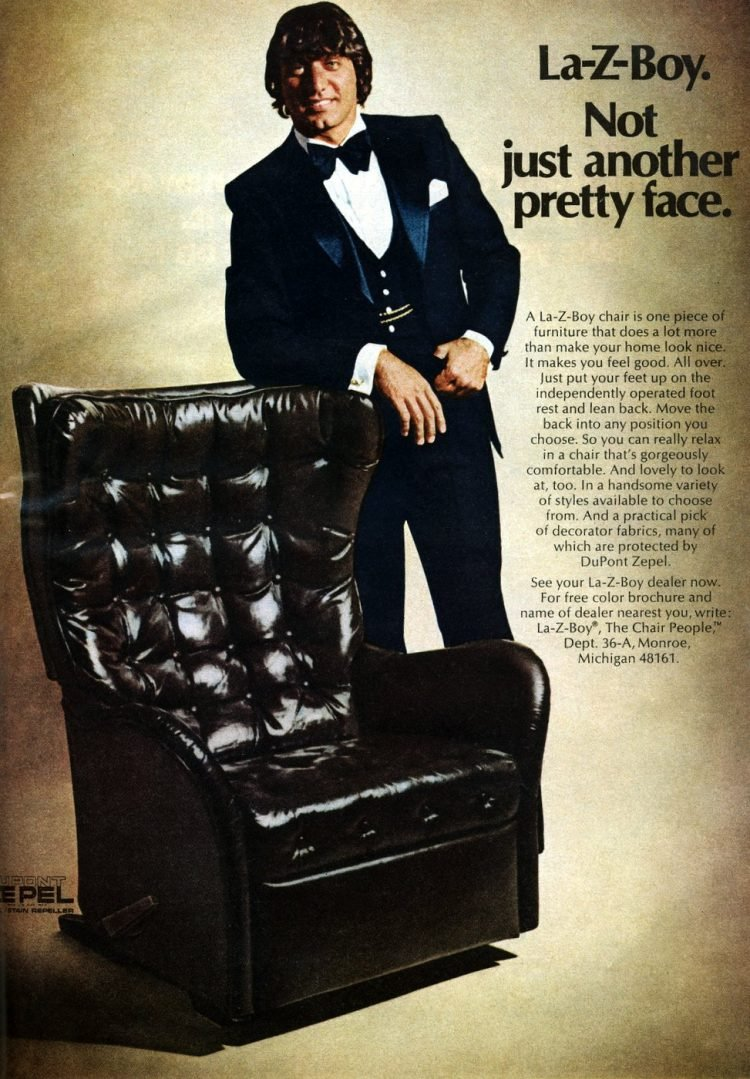 La-Z-Boy - Joe Namath not just another pretty face 1974