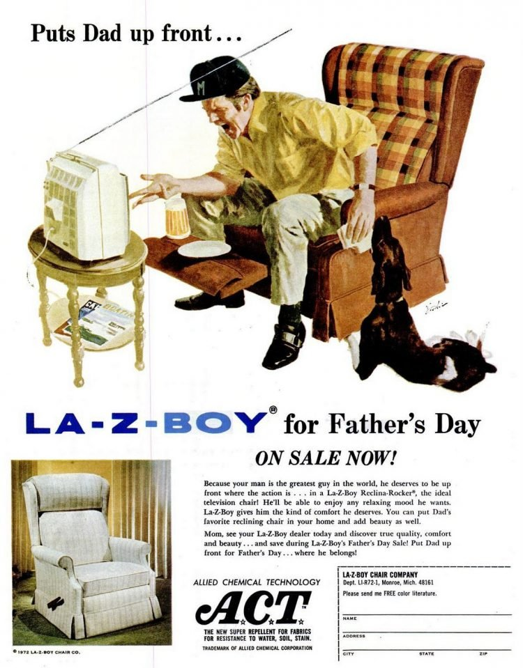La-Z-Boy chairs for dad - 1972
