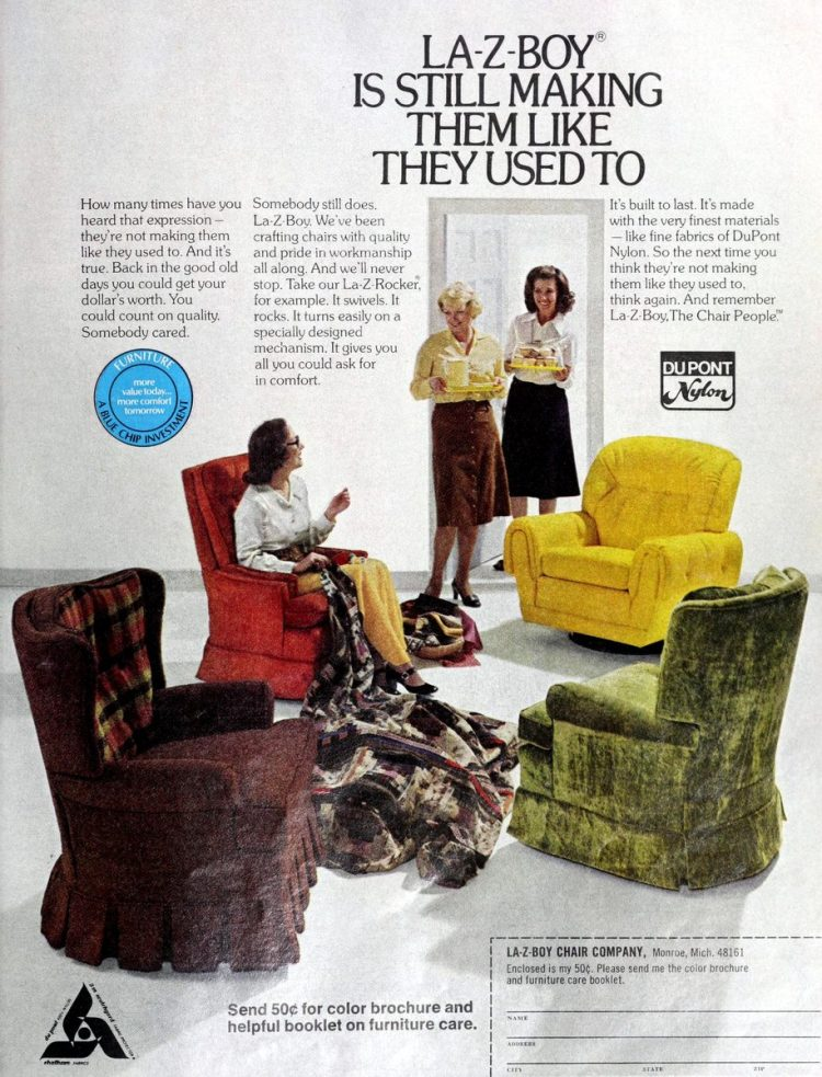 La-Z-Boy furniture chairs 1975
