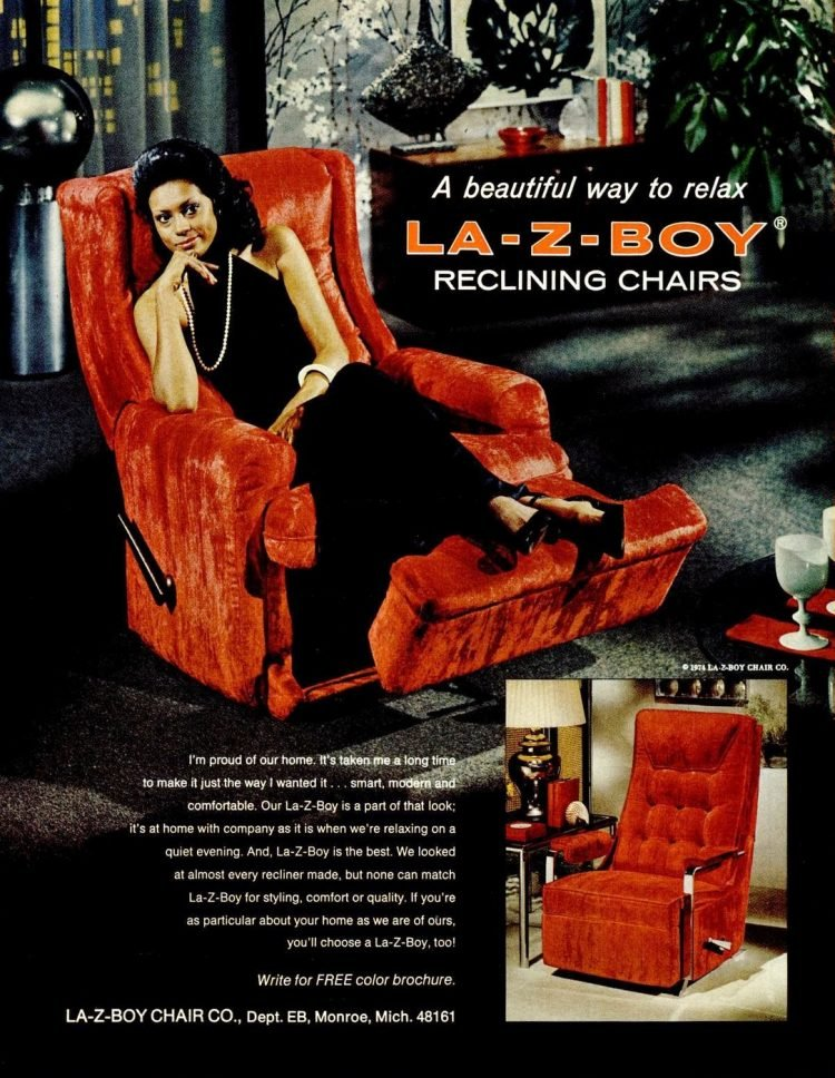 La-Z-Boy vintage reclining chairs ad 1960s