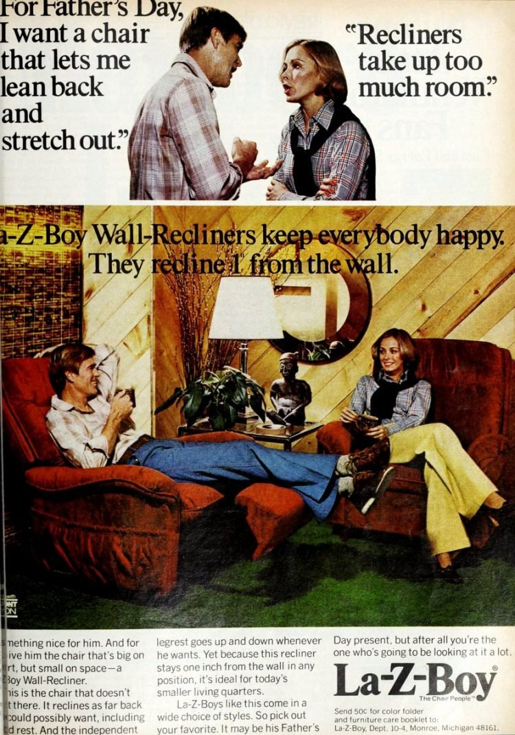 La-Z-Boy wall recliners 1976 1977