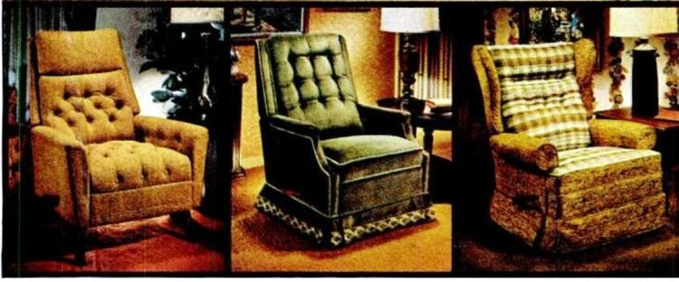 LaZBoy lounger chairs for the home from 1971-001