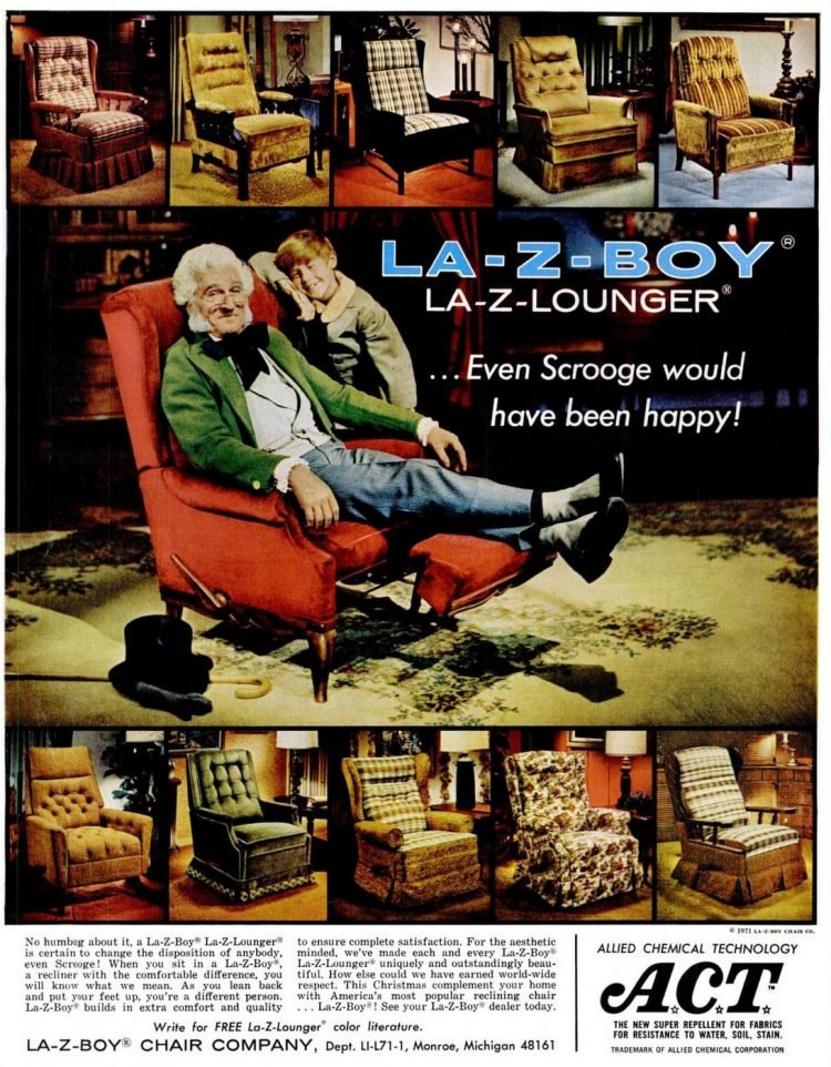 LaZBoy lounger chairs for the home from 1971
