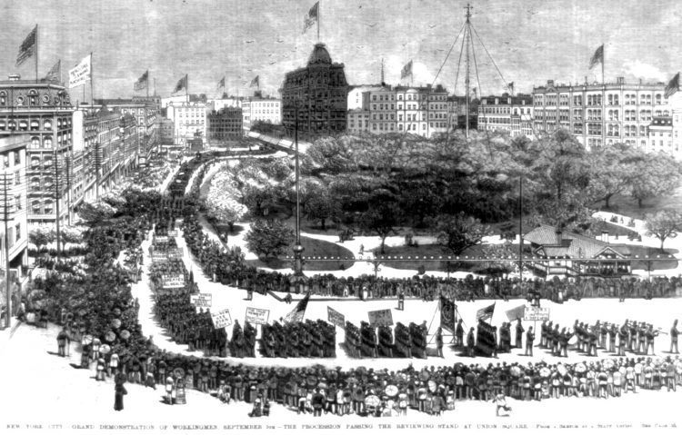 Labor Day parade 1882