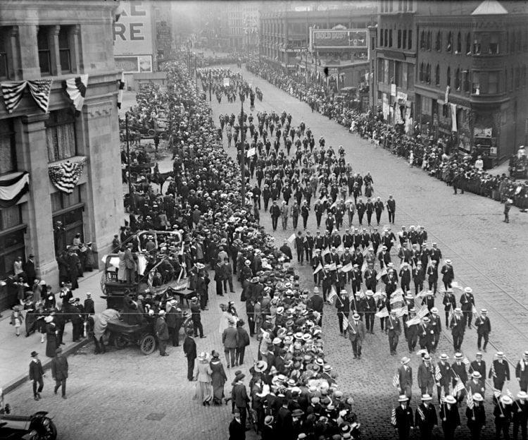 Labor Day parade in Boston - 1920