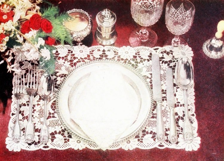 Lacy vintage tablesetting from 1953