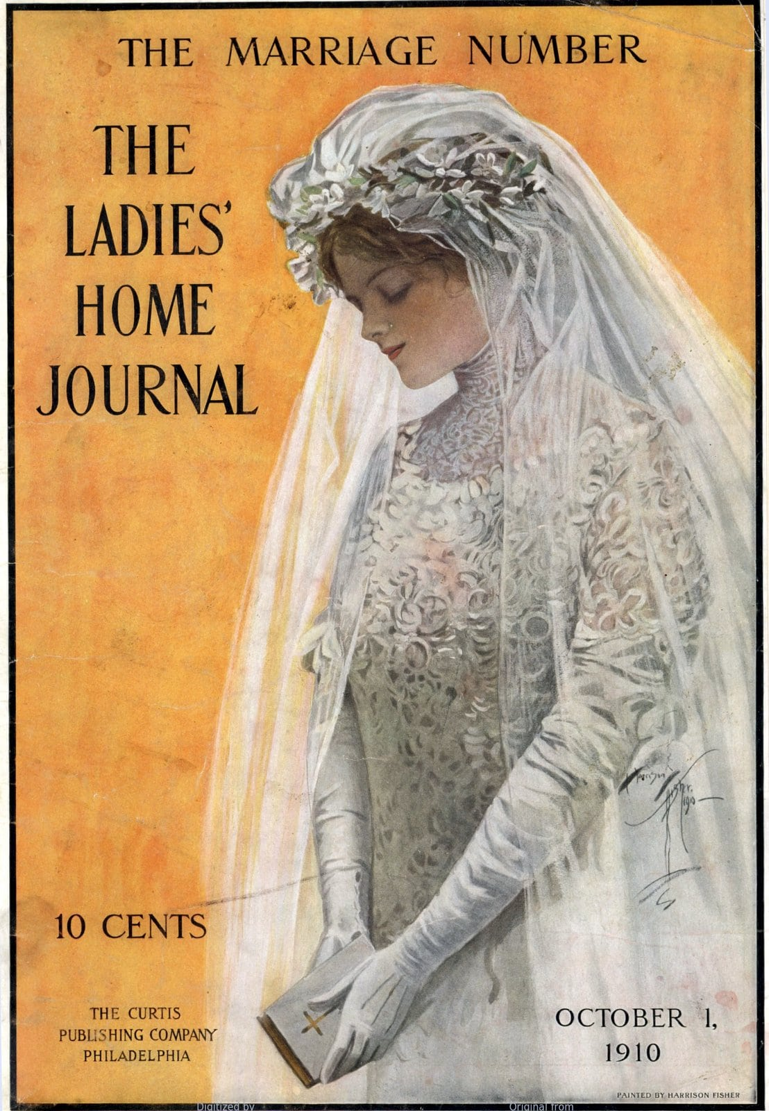 Ladies Home Journal - Bridal gown (1910)