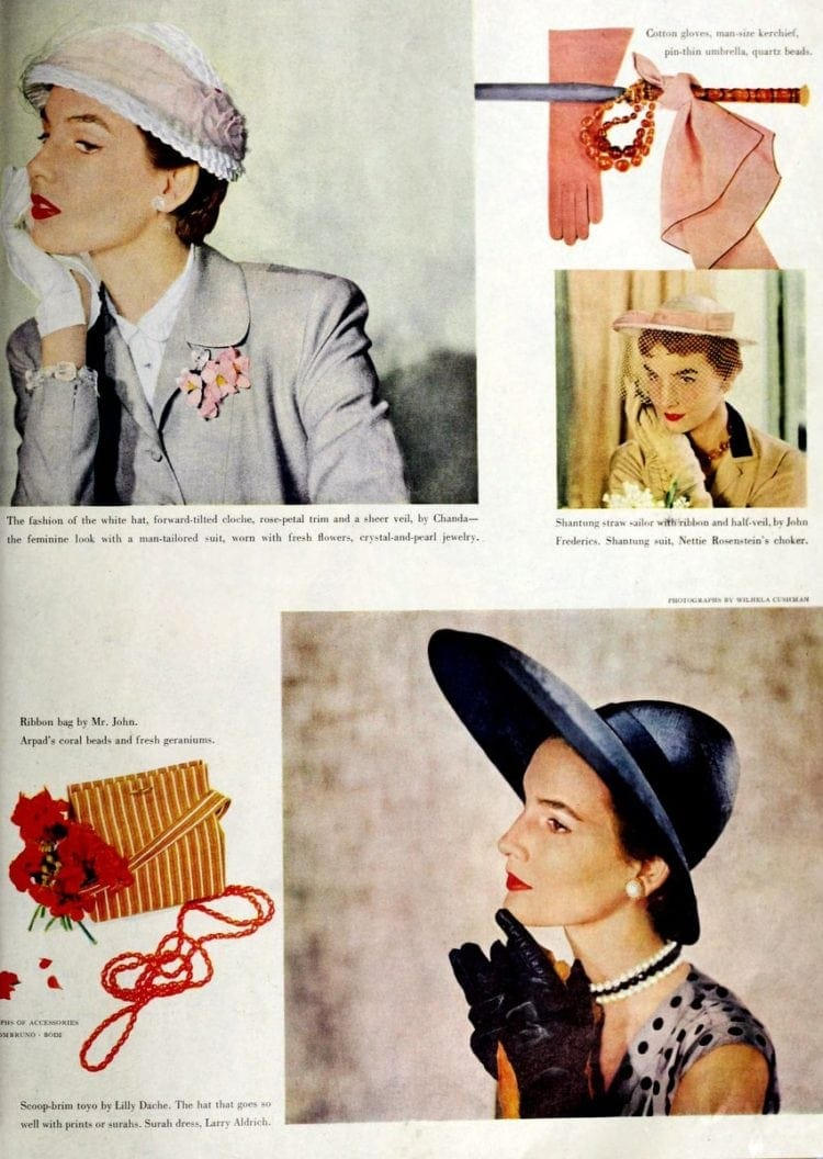 Vintage hats and headwear