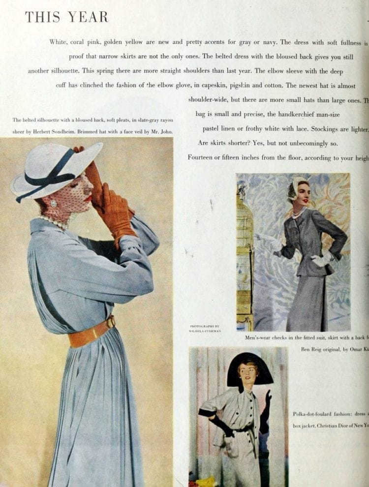 '50s narrow skirts - belted dress with the bloused back