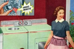 Lady loves her laundry - 1950s