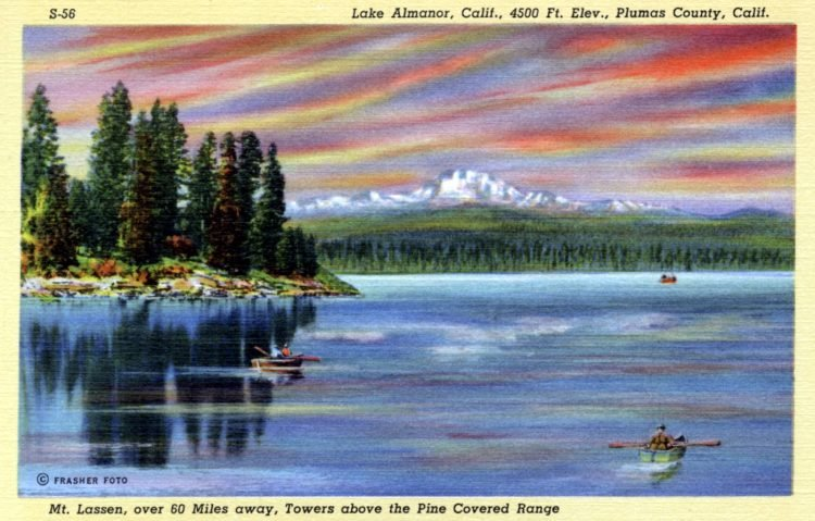 Lake Almanor, California - postcard