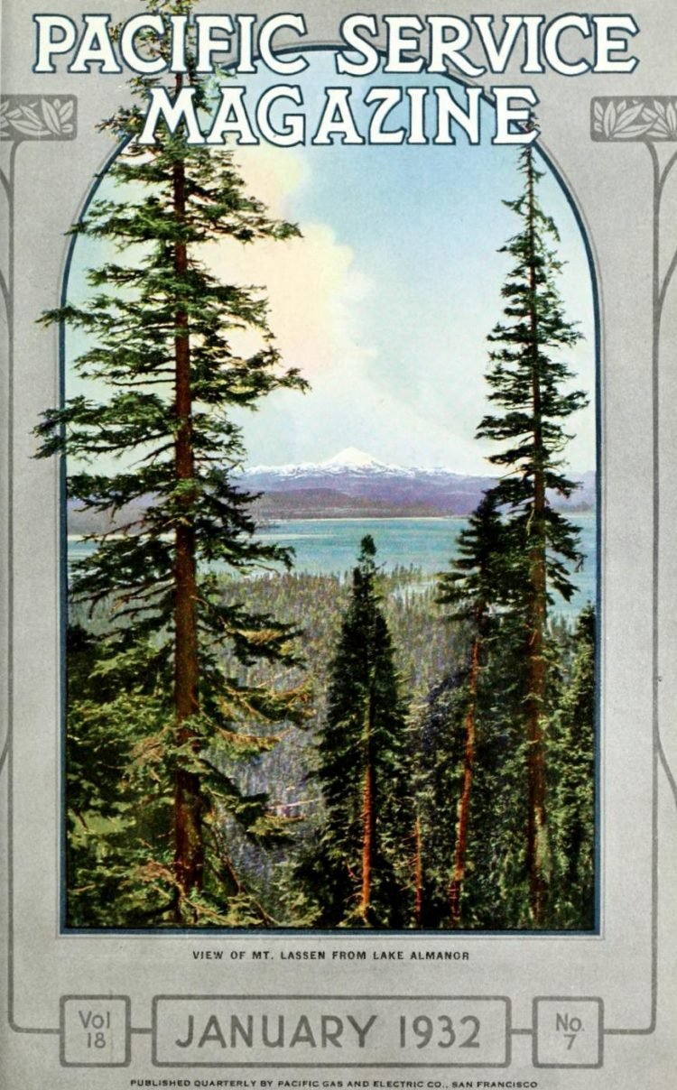 Lake Almanor history - Pacific Service Magazine 1932
