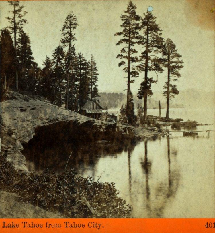 Lake Tahoe from Tahoe City 1875