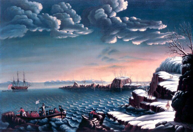 Landing of the Pilgrims by Corne - 1620