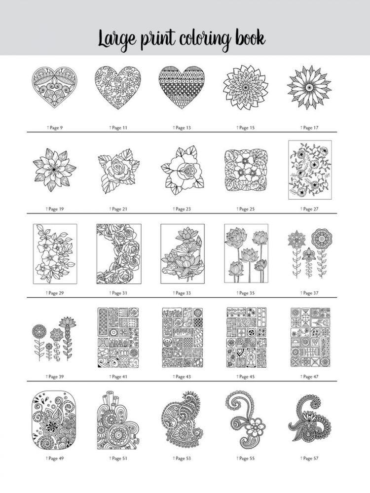 Large Print Adult Coloring Book 1 - Samples (1)