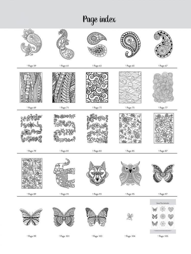 Large Print Adult Coloring Book 1 - Samples (2)